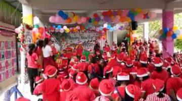 วันปีใหม่ คณะครูนักเรียนผู้ปกครองร่วมกิจกรรมวันคริสต์มาสและวันปีใหม่